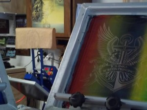 Screen Printing Split Fountain