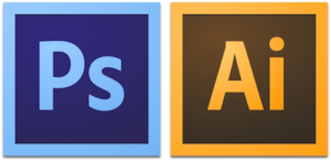 Adobe Photoshop and Illustrator Logos