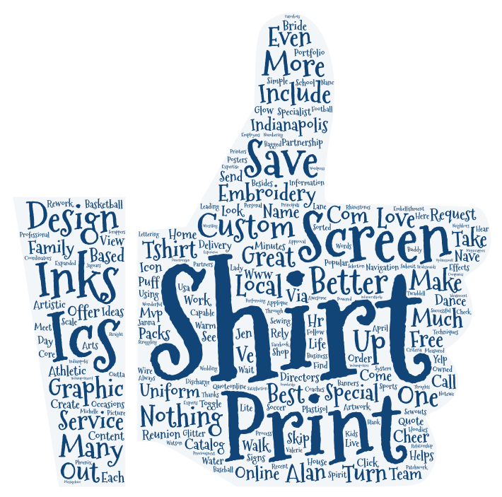 ICS Inks Screen Printing Tag Cloud