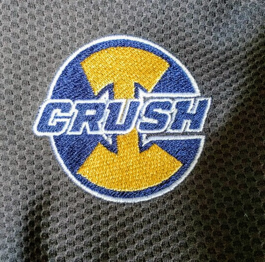 Indy Crush embroidered logo